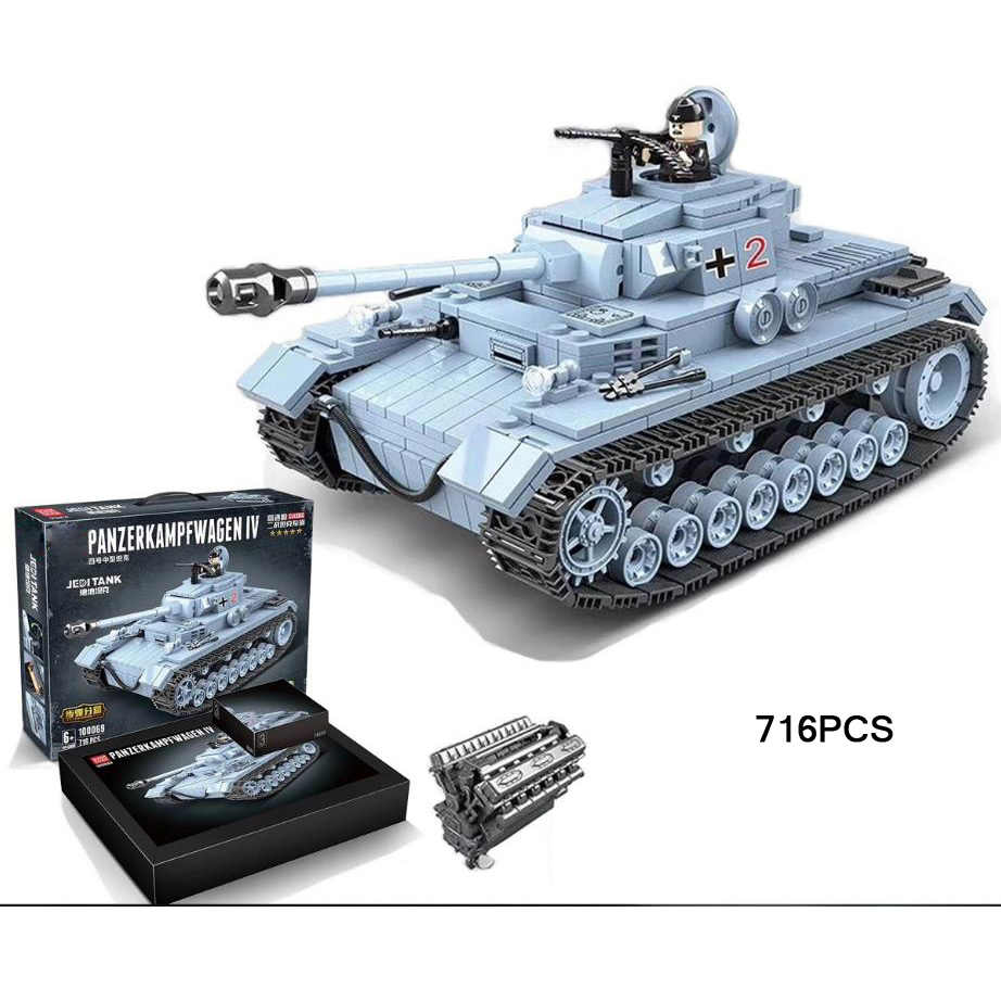WW2 1935 Германия джедай panzerkampfwgen IV Танк baisbricks фигура строительный блок мировая война армия минифиги модель игрушки коллекция