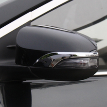 цена на For Toyota Corolla 2014 2015 2016 2017 Altis E170 abs Chrome Side Door Rear View Mirror Cover Trim Garnish Molding Overlay Strip