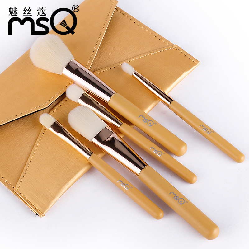 MSQ 5pcs/set Professional Makeup Brushes Set Kit Facial Cheek Eyebrow Eyeshadow Powder Foundation Brush Cosmetics Make up Tools kesmall 10pcs professional makeup brushes set facial eyebrow eyeshadow powder foundation brush cosmetics make up tools co430