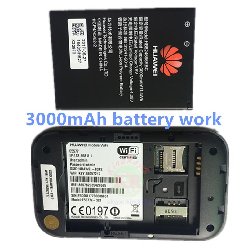 US $67 15 30% OFF|Huawei E5577 e5577s 321 3g 4g router hauwei pocket wifi  hotspot 3000MAh Battery 4g lte router pk huawei e5885-in 3G/4G Routers from