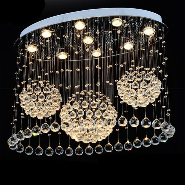 Groothandel inbouw ovale moderne kroonluchter verlichting kristal ...