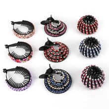 1pc Korean Crystal Hair Claw For Women Ponytail Holder Ball Head Bun Maker Expanding Clips Hairpins Accessories 2019