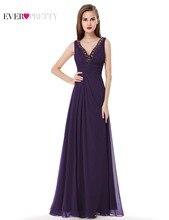 Ever Pretty 2017 Clearance Style Bridesmaid Dresses V-neck  Sleeveless Elegant Party Plus Size Chiffon Dress XXPP30180EHA