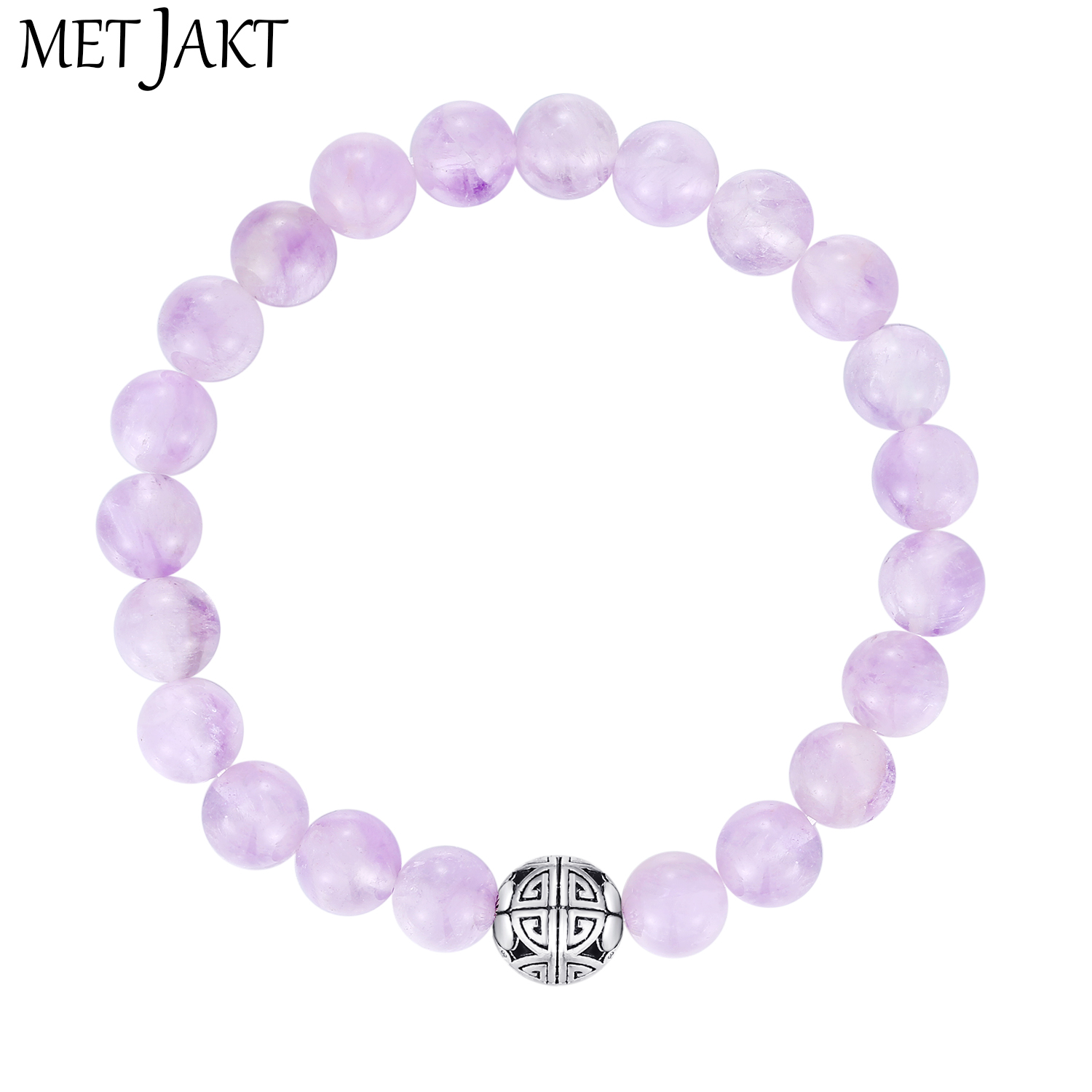 MetJakt Natural Gemstone 8mm Brazilian Amethyst Bracelet Solid 925 Sterling Silver Long Life Beads for Womens Fine JewelryMetJakt Natural Gemstone 8mm Brazilian Amethyst Bracelet Solid 925 Sterling Silver Long Life Beads for Womens Fine Jewelry