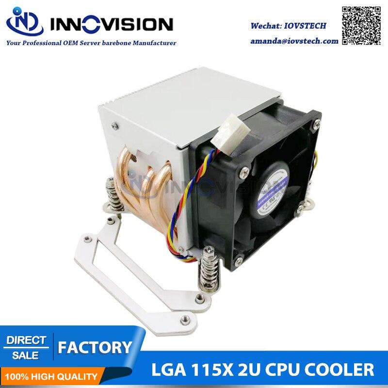 Excellent CPU Cooler with four heating pipe for LGA1150 151 1155 1156 2U 3u 4u server
