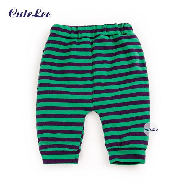 Детская мода полосатый руно осень зима хлопок брюки мальчик шаровары новорожденный девочка брюки лот дети busha брюки