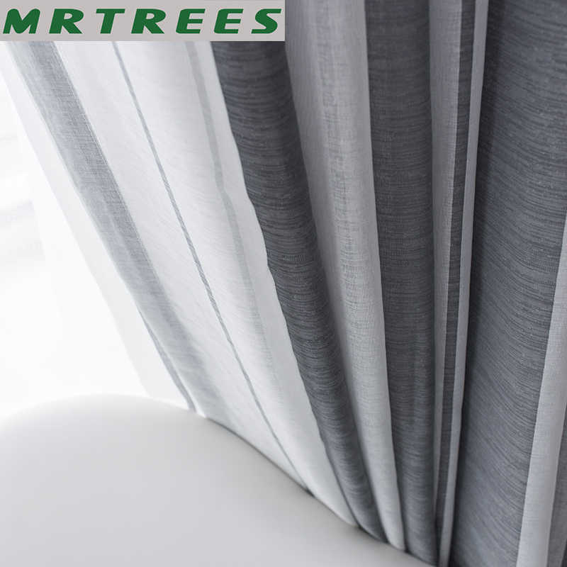 MRTREES Linen Window Sheer Curtains for Living Room Bedroom Curtains for Kitchen Modern Tulle Voile Curtains for Window Drapes