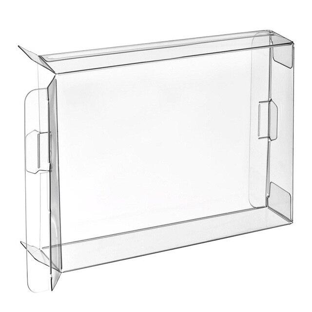 H 100pcs Carts Clear CIB Game Cartridge Box Case Protector Sleeve for Saturn Single CD Box Protectors