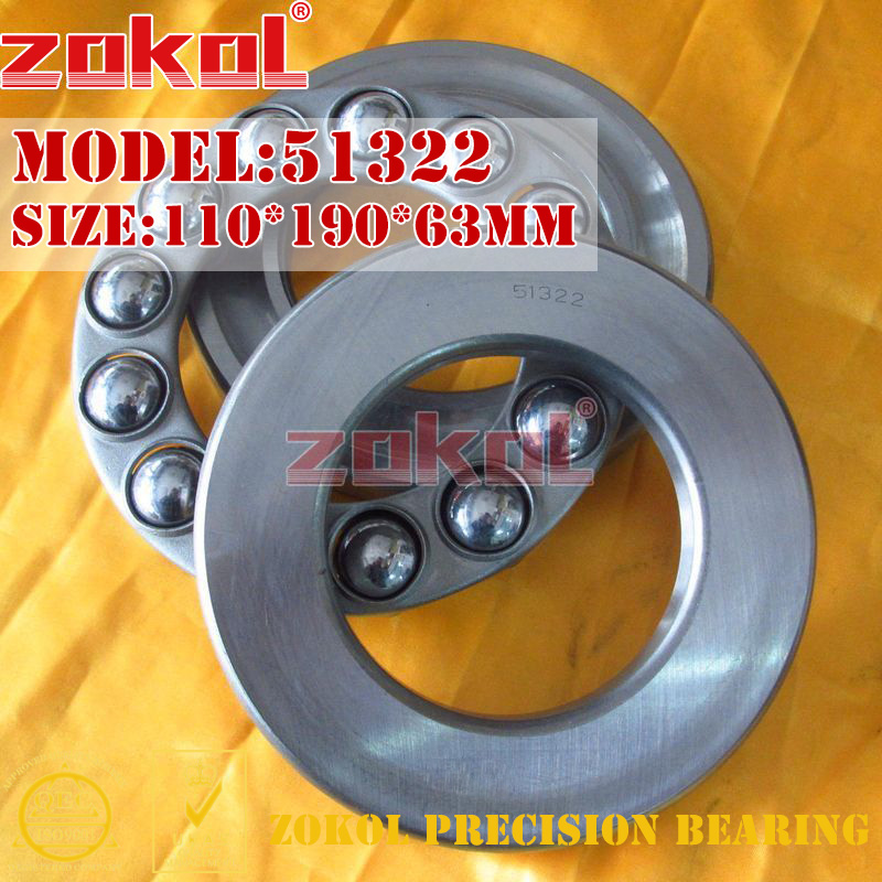 ZOKOL bearing 51322 Thrust Ball Bearing 8322 110*190*63mm zokol bearing 51238 thrust ball bearing 8238 190 270 62mm