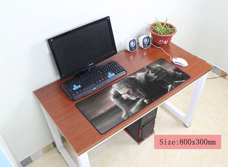 Ведьмак коврик для мыши 800x300x3 мм коврик для мыши Notbook коврик для компьютерной мышки профессиональный игровой padmouse геймер к клавиатура мышь к...