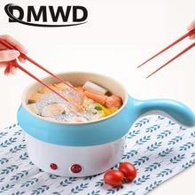 DMWD многофункциональная электрическая плита, мини-Сковорода с антипригарным покрытием для приготовления лапши, сковорода для приготовления яиц, пароварка для супа, нагреватель, сковорода, ЕС