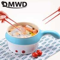 DMWD Multifunktionale Elektroherd Eintopf Mini Non-stick Food Nudel Kochen Pfanne Ei Dampfer Suppe Heizung Topf Pfanne EU