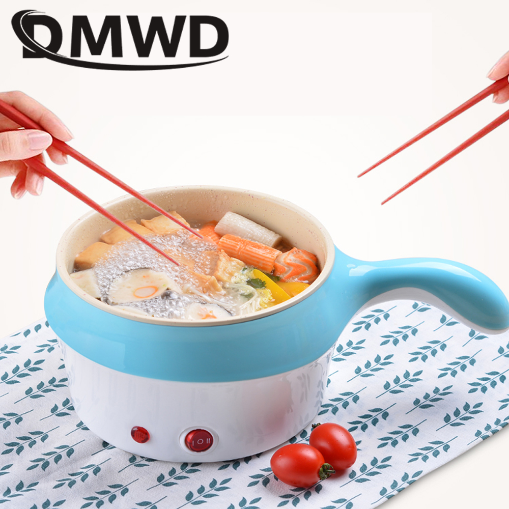 DMWD multifunctional electric Multicookers Hotpot mini noodles cooker non-stick skillet Steamed eggs Soup Cooking pot EU US plug dmwd commercial 3500w electromagnetic induction cooker household waterproof mini hotpot cooktop hot pot cooking stove eu us plug