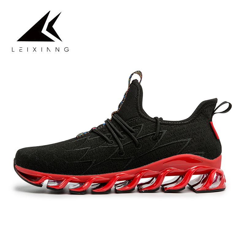 China Style Men Running Sneakers Dragon Scale Design Breathable Flexibility Sport Running Shoes Damping Spor Ayakkabi Erkek
