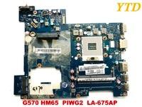 Original for Lenovo G570 laptop motherboard HM65 PIWG2 LA 675AP DDR3 tested good free shipping