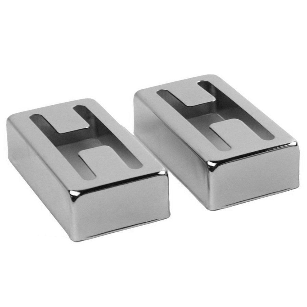 1 пара н отверстие Humbucker Чехлы для мангала для Gretsch filtertron стиль пикап, серебро