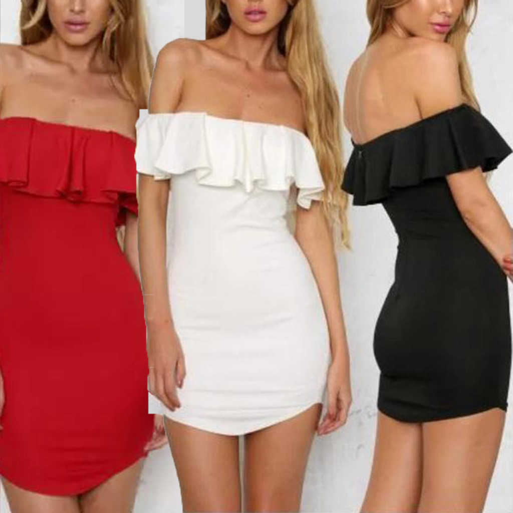 Summer <font><b>Sexy</b></font> Off Shoulder Women Bandage <font><b>Mini</b></font> <font><b>Dress</b></font> Vestidos Verano <font><b>2019</b></font> New Slash Neck <font><b>Club</b></font> <font><b>Dress</b></font> Celebrity Party <font><b>Runway</b></font> <font><b>Dresses</b></font> image