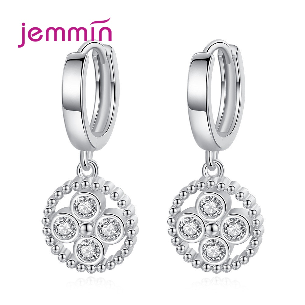 New Arrival S90 Trendy Dangle Earrings Customized Sparkling Cubic Zirconia Best Gift For Women Girls Party Appointment