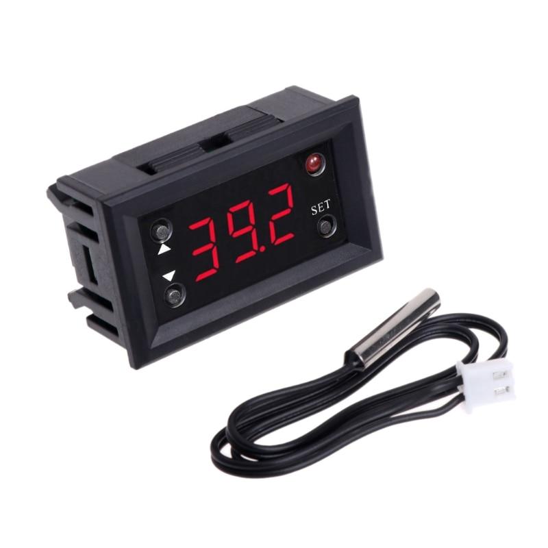 LED Display Digital Thermostat DC 12V -20~100 Celsius Temperature Control Regulator for Incubator Termostat W315 цена 2017