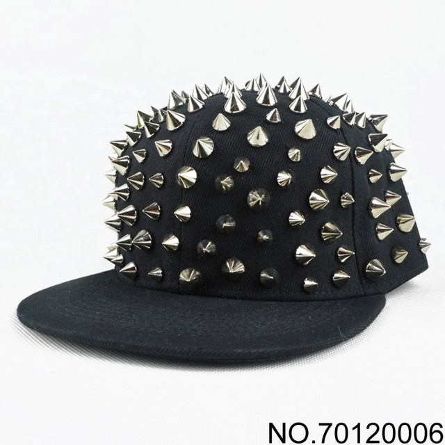 f2b3c8a8ee0 Snapback 2016 New Fashion Hiphop Hip-hop Hat Punk Full Rivet cap Flat brim  caps Baseball cap Handmade Rivets Hats Men Women