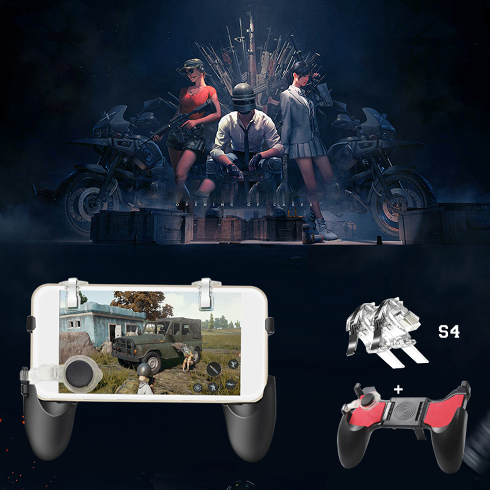 5 In 1 For IPhone For PUBG Gamepad Joystick For Android Portable Game Controller Fire Shooter Button Trigger Handle Mobile Phone