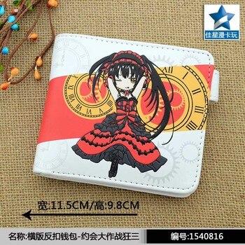 Anime FECHA EN DIRECTO regalo Sonico Kurumi colorido monedero corta de piel de bolsillo bolsa de dinero para los hombres y las mujeres