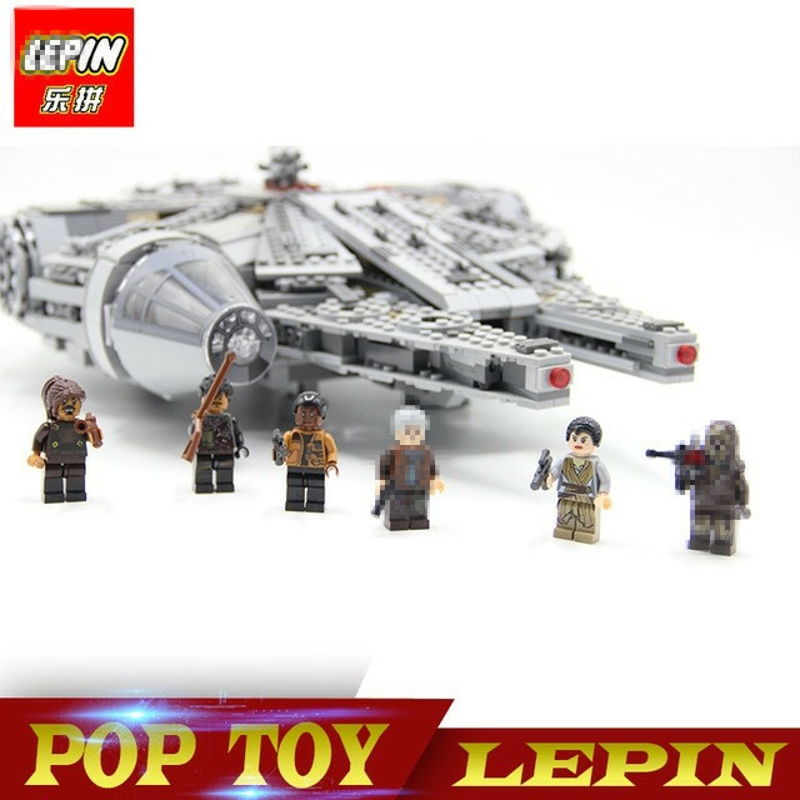 1381pcs Millennium Falcon Legoing Star Wars Mini Brick Models & Building Blocks Toys For Children Legoing Starwars Han Solo star wars figures jedi chewbacca han solo darth vader leia legoing jango fett obi wan models & building toys blocks for children
