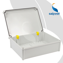 280*380*130mm  Built-in Hinge Type PC Waterproof Box with Plastic Screw Design  SP-PC-283813