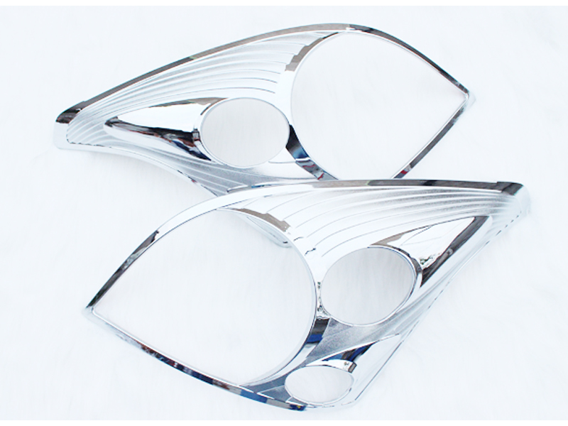 2003 2004 2005 2006 2007 2008 2009 For Toyota Prado Land Cruiser FJ120 ABS Chrome Front Headlight Head Light Lamp Cover Trim scooter abs electroplate front headlight headlamp head light lamp small mask cap cover shield large for yamaha bws x 125 plating