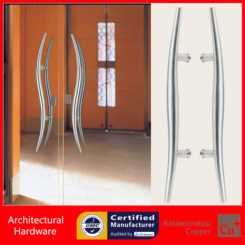 Snake Entrance Door Pull Handle MadeOf 304 Grade Stainless Steel For Wooden/Frame/Glass Doors PA-175-38*600mm modern entrance door handle 304 stainless steel pull handles pa 104 32 1000mm 1200mm for entry glass shop store big doors