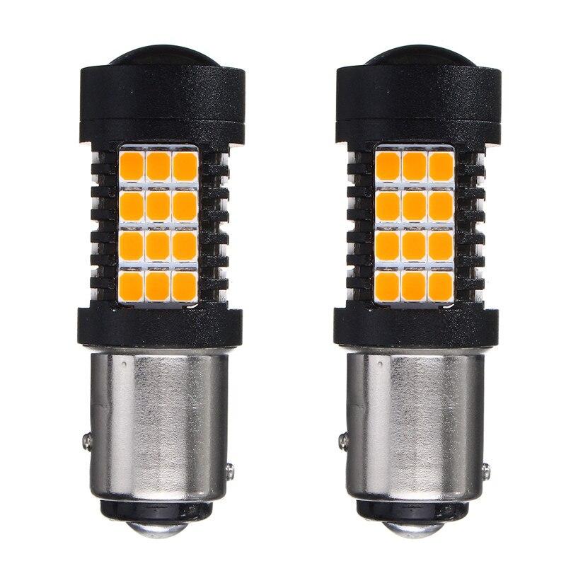 2pcs 4.4W Turn Light Backup Reverse Light Amber 3157 7443 1156 1157 2835 SMD LED Auto Car Brake Stop Light Lamp DC10-30V