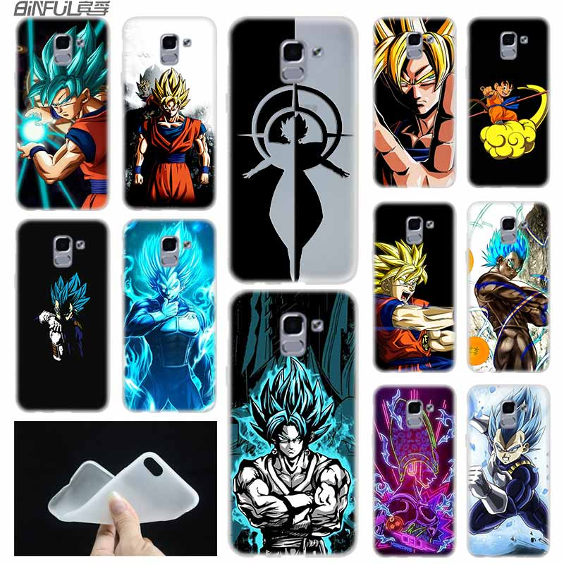 Cellphones & Telecommunications Fitted Cases Humble Case Soft Cover Tpu Coque For Samsung Galaxy J6 J8 J5 J7 J4 Plus 2018 2016 2017 Eu Prime Pro Ace J610 Dbz Dragon Ball Cell Anime Lustrous
