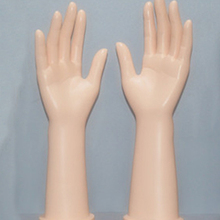 Nuevo Liglamorous 1 par de mano de maniquí femenino con pantalla de brazo para mujer, anillos, guantes, pulsera, joyería, piel, modelo de mano de 12 pulgadas