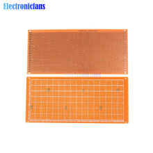 Plaque de bakélite 10x22cm, bricolage, Prototype de papier PCB, planche à pain, matrice d'expérimentation universelle, feuille de cuivre simple face 10x22CM