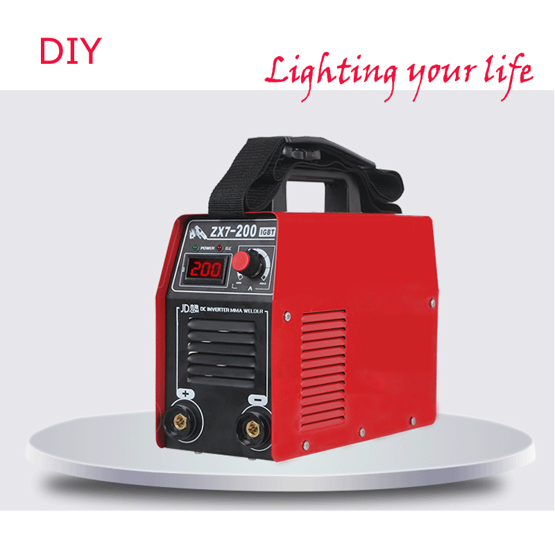 Powerful Cheapest DC IGBT Inverter  Electric High  WELDING Machine, MMA-200 MMA ARC Stick Welder Welding Machines p80 panasonic super high cost complete air cutter torches torch head body straigh machine arc starting 12foot