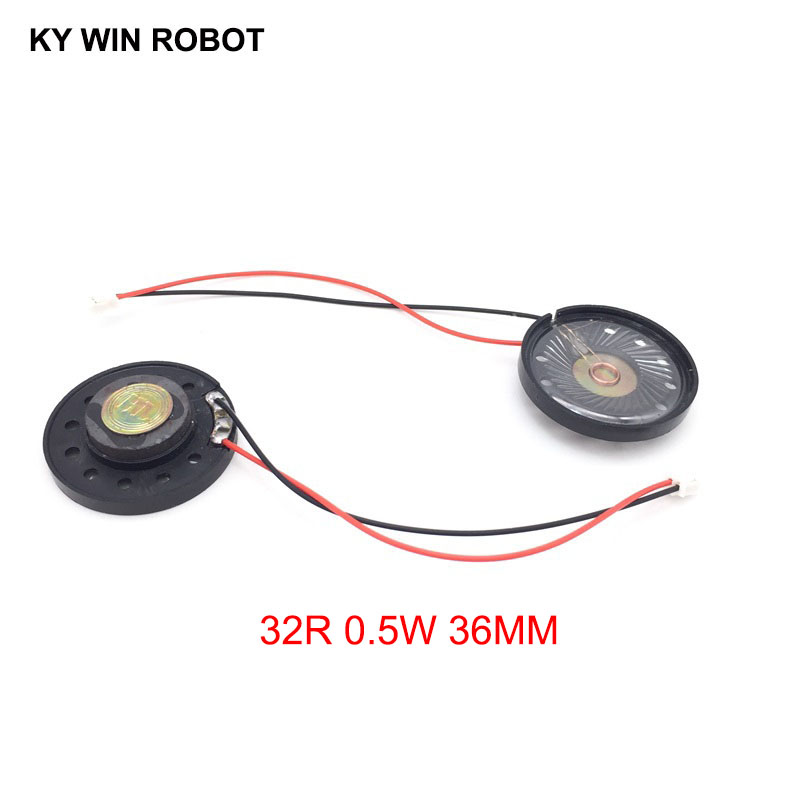 Acoustic Components Frugal 2pcs/lot New Ultra-thin Toy-car Horn 32 Ohms 0.5 Watt 0.5w 32r Speaker Diameter 36mm 3.6cm With Ph2.0 Terminal Wire Length 10cm A Wide Selection Of Colours And Designs