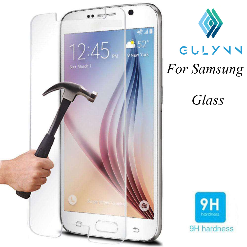 GULYNN 9H Tempered Glass For Samsung Galaxy J1 J3 J5 J7 2016 2017 J2 J5 Prime G532F G570F J1 Mini J105F Screen Protector Film