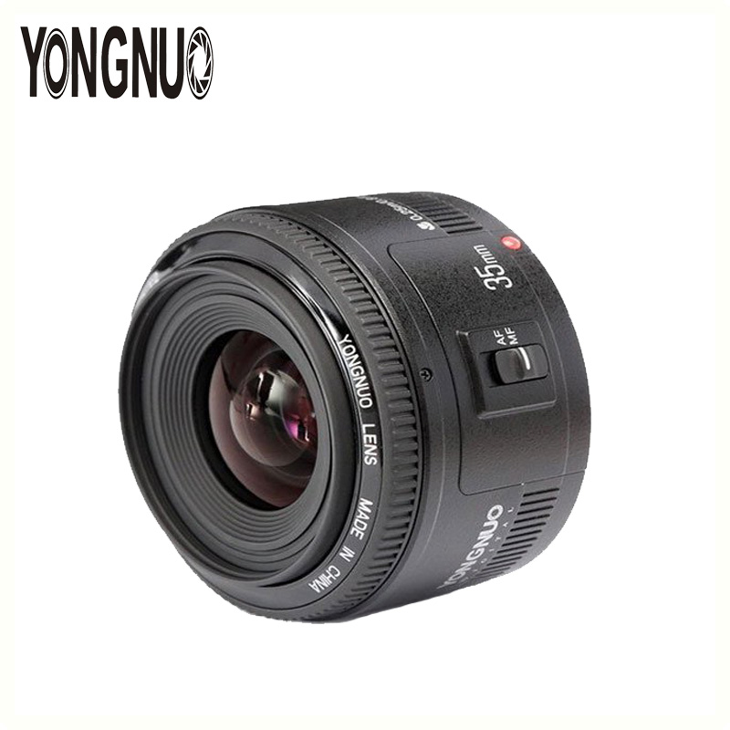 YONGNUO YN35mm Lens 35mm F2 Lens AF/MF Wide-Angle Fixed/Prime Auto Focus Lens For Canon EF Mount 5D III 7D II 6D 60D 70D Camera yongnuo yn100mm f2 af mf medium telephoto prime lens fixed focal for canon eos rebel camera ef mounting port 600d 60d 80d 6d5d3