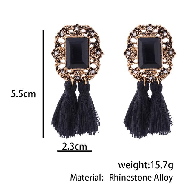 Vintage Crystal Pendant Earrings