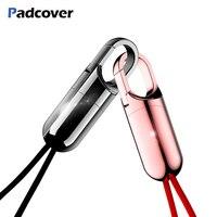 PADCOVER Тип C кабель для Xiaomi Mi Mix 2 S кабель быстрого зарядного устройства для samsung S8 S9 зарядка через usb шнур Скрытая брелок конструкция кабеля