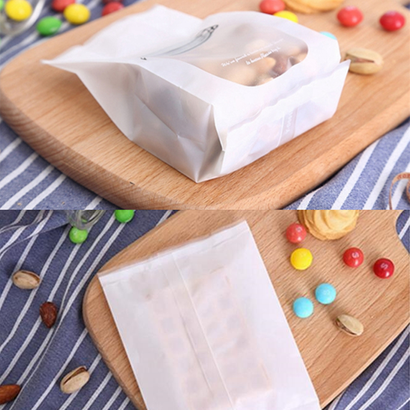 Image 2 - LBSISI Life 50pcs White Bottle Cookie Bags Letter Flat Self Stand Food Biscuit DIY Baking Packing Plastic Machine Seal Bag-in Gift Bags & Wrapping Supplies from Home & Garden