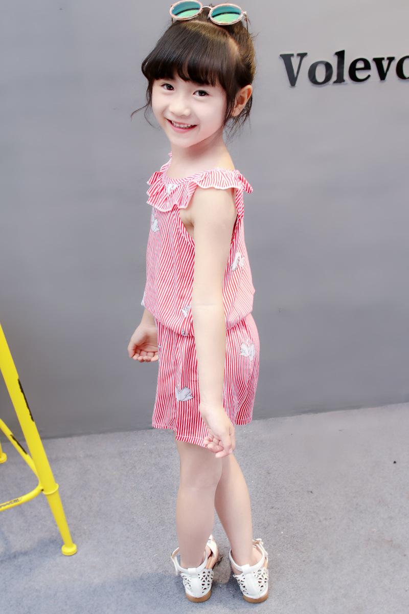 HTB100L6oL9TBuNjy1zbq6xpepXak - (4 sets/lot) New 2018 Summer Girls' Clothing Sets Striped T-shirt & Shorts Baby Girl 2 PCs Set  8042615