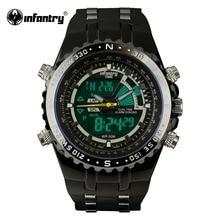 INFANTRY Mens Montres LCD Reloj Numérique New Casual Quartz Montre Militaire Police Chronographe Montre Date 2016 Marque De Luxe