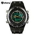 Infantry mens relojes lcd reloj digital de nueva casual reloj de cuarzo militar police cronógrafo fecha reloj 2016 de la marca de lujo