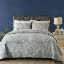Качественное покрывало с принтом пейсли, набор стёганых одеял из 3 предметов, винтажное Стёганое одеяло, постельные принадлежности, хлопковое Стёганое одеяло s, покрывало для кровати, покрывало King size