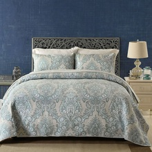 Quality Paisley Printed Bedspread Quilt Set 3PCS Vintage Quilted Bedding Cotton Quilts Blanket Bed Covers King Size Coverlet