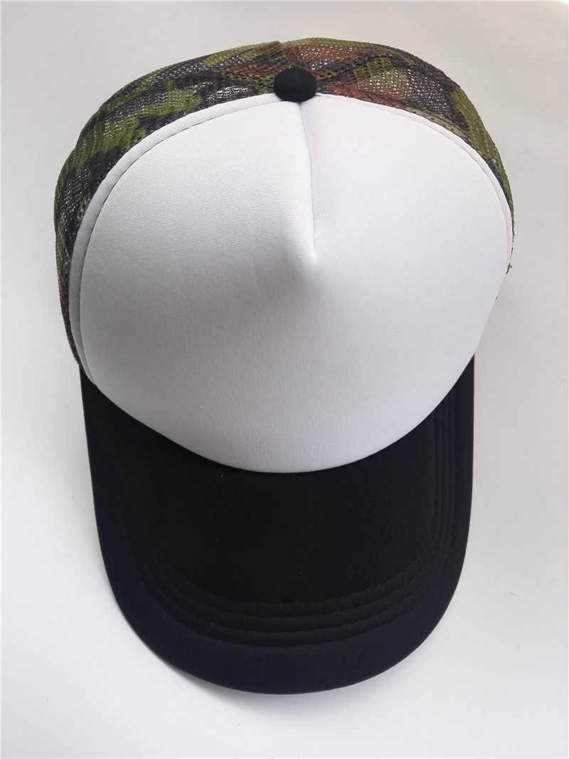 cf084c2873d ... Summer Adult Mesh Sport Trucker Hats Camo Army Green Blank Men s  Baseball Caps 5 panels Snapback ...