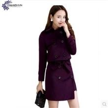 TNLNZHYN NEW Women clothing suit autumn elegant fashion slim large size high-end long sleeve coat+Short skirt female set QQ304