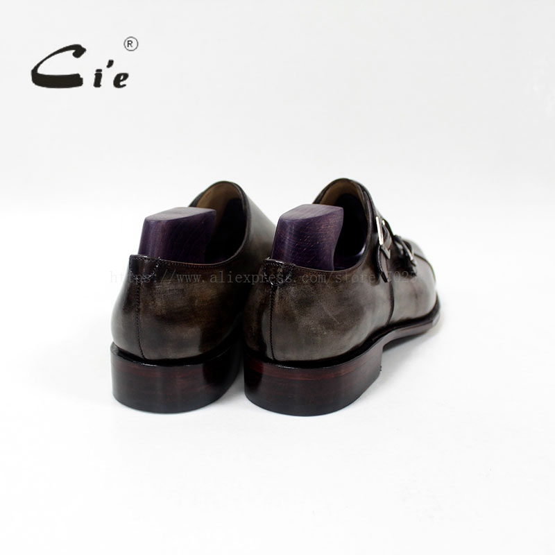 cie Square Captoe Double Monk Riemen Patina Oliver Grey Handmade - Herrenschuhe - Foto 5