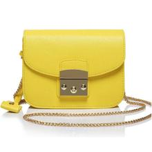 fashion luxury famous brand casual genuine leather font b bag b font ladies original leather yellow